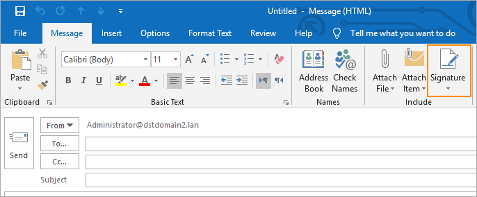How to create Outlook 2019 signature?