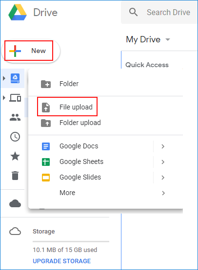 Direct image link in Google Drive 01