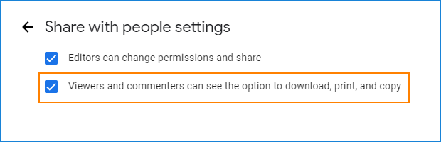 Enable direct links in Google Drive