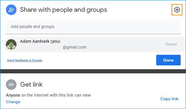 Share settings direct url in Google Drive 2