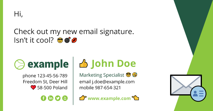 Emoji in professional email signatures - DON'T!