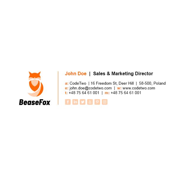 Bease Fox - with an animated gif logo