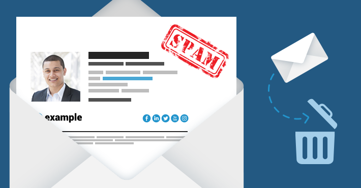 Email signatures vs SPAM