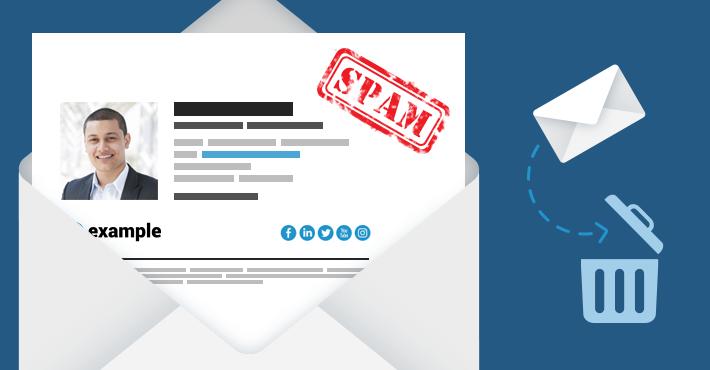 Email signatures vs SPAM