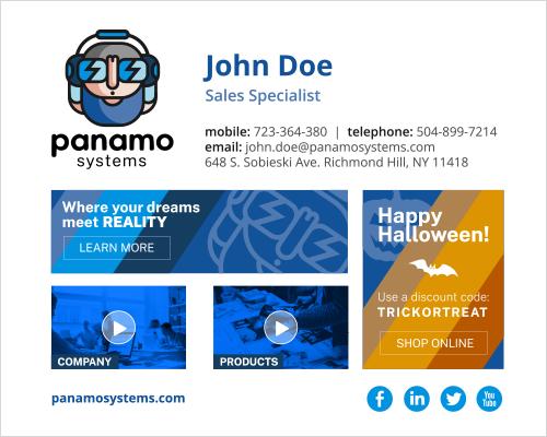 Halloween email signature design - accent
