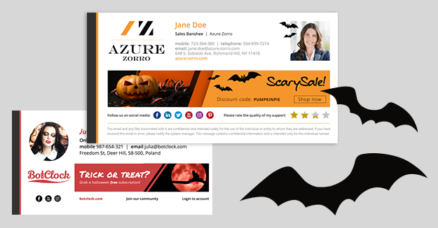 Inspirations for Halloween email signatures