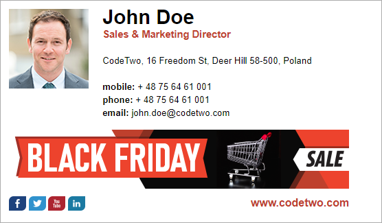 Black Friday email signature inspirations – template 3