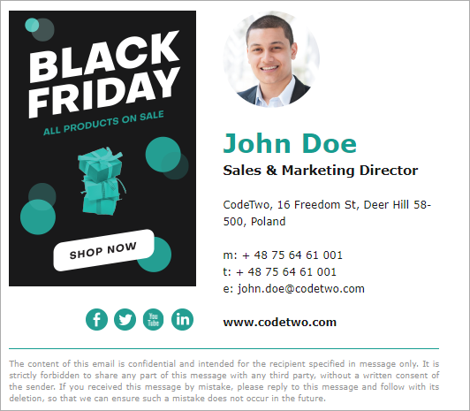 Black Friday email signature inspirations – template 4
