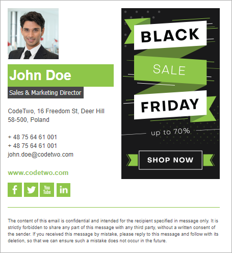 Black Friday email signature inspirations – template 5