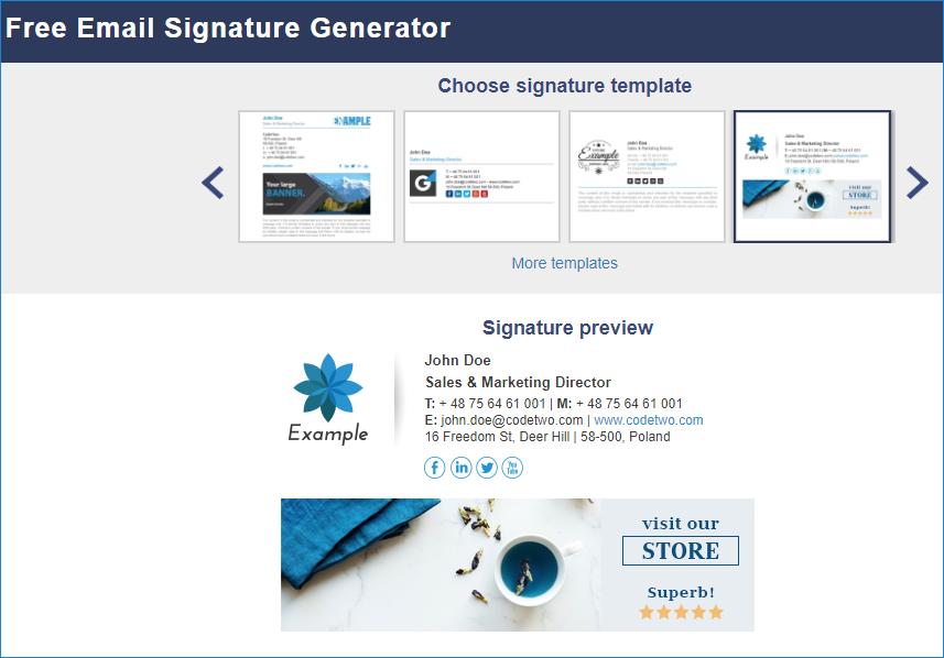 Email signature tool for graphic designers 01