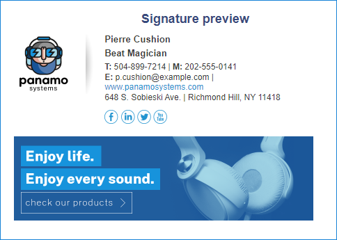 Email signature tool for graphic designers 03