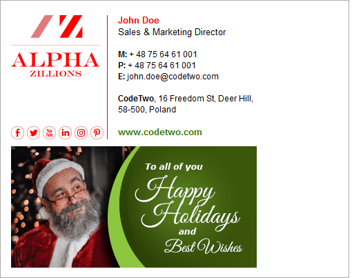 Free Christmas Decorating Ideas For Your Email Signatures