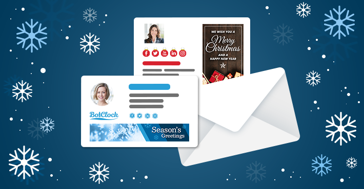 Prepare for winter holidays with Christmas email signature inspirations