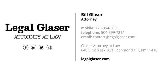 sample email signature for attorney 1