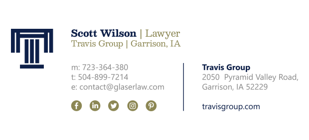 sample email signature for attorney 2