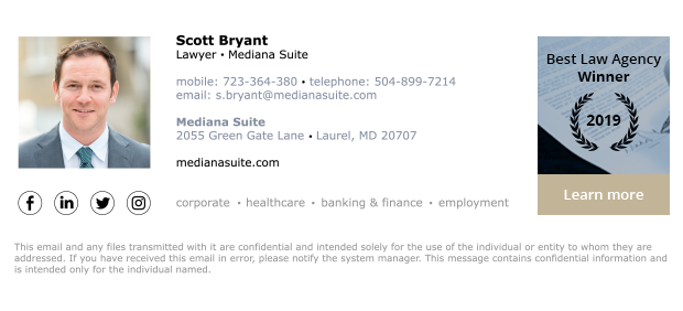 sample email signature for attorney 3