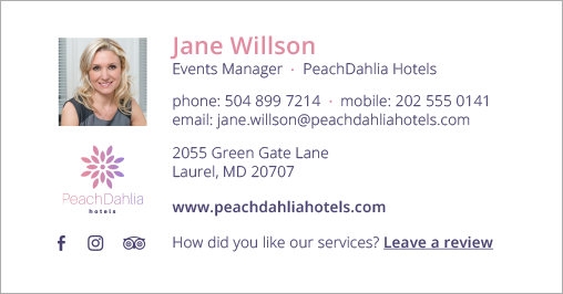 Best email signatures for 2020 - PeachDahliaHotels