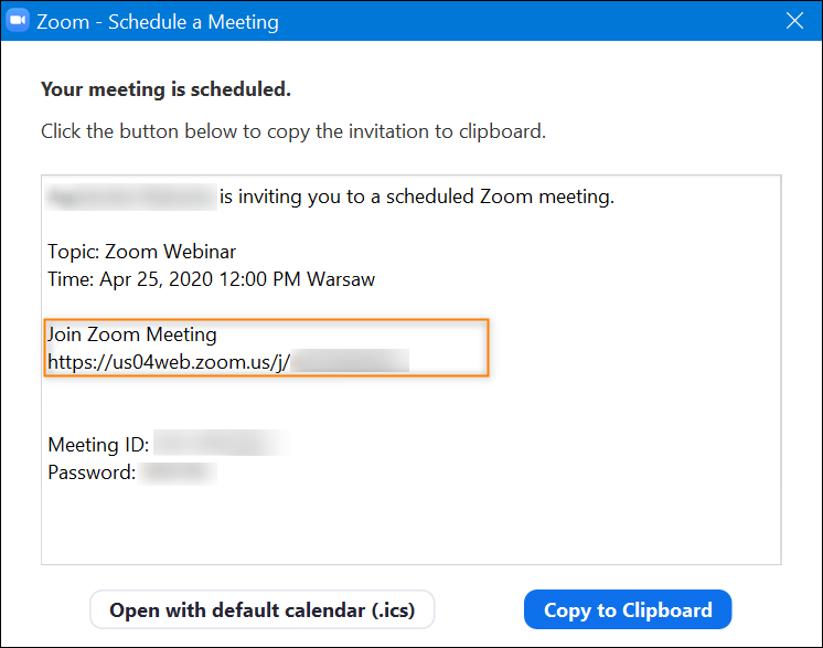 Zoom meeting link.