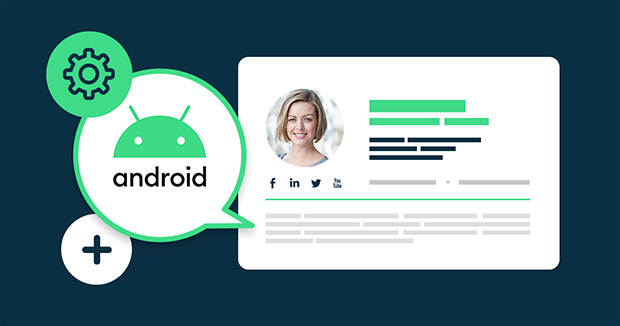 How to set up or change an Android email signature