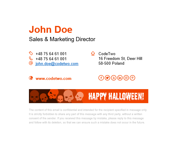 Halloween signature template Night and Day - light mode.