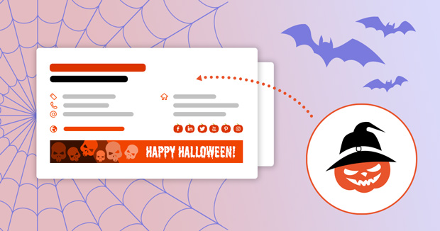 Halloween 2020: free email signature templates