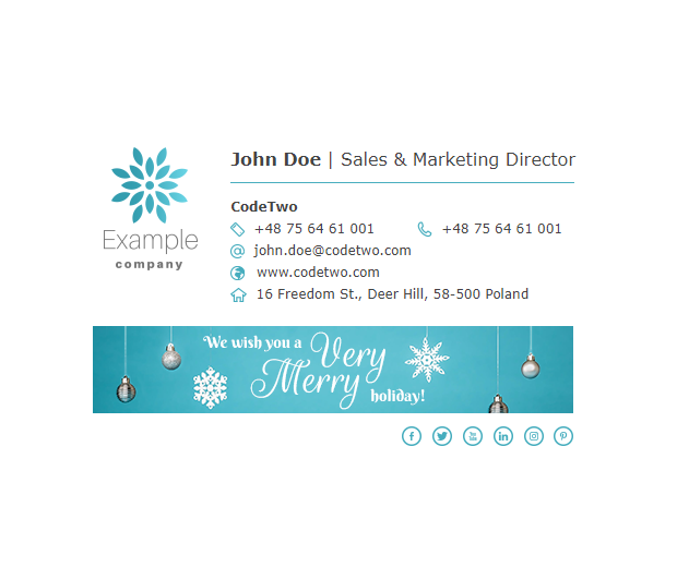 Free holiday signature template – It's snowing