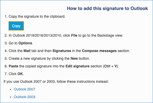 Copy Apple Mail HTML signature