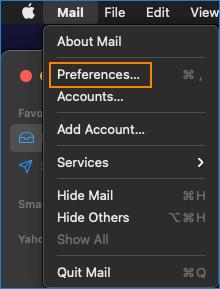 Mail App Preferences
